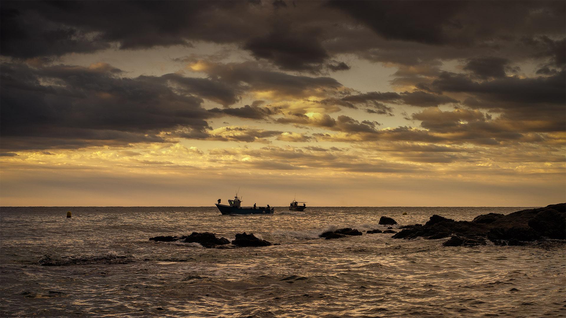 Costa Brava puesta de sol